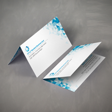 folded business cards hf golf promo